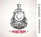 retro train  vintage  vector... | Shutterstock .eps vector #335919971