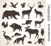 european forrest wild animals... | Shutterstock .eps vector #335920061