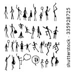 set of doodle people... | Shutterstock .eps vector #335928725