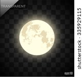 vector moon on a transparent... | Shutterstock .eps vector #335929115