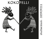 Black And White Kokopelli  ...