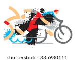 triathlon athletes. three... | Shutterstock .eps vector #335930111