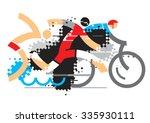 triathlon athletes. three...