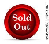 sold out icon. internet button... | Shutterstock . vector #335935487