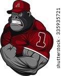 terrible gorilla athlete | Shutterstock .eps vector #335935721