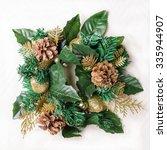 christmas decorative wreath | Shutterstock . vector #335944907