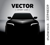black sports car in the shadow. | Shutterstock .eps vector #335948339