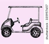 Golf Cart  Doodle Style  Sketch ...