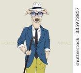whippet boy hipster  fashion... | Shutterstock .eps vector #335973857