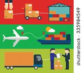 logistic infographics set.... | Shutterstock . vector #335984549