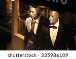 fashion boutique and two models ... | Shutterstock . vector #335986109