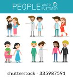 family and children  family and ... | Shutterstock .eps vector #335987591