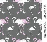 flamingo bird pattern   Shutterstock .eps vector #335991641