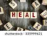 Small photo of Wooden Blocks with the text: Heal