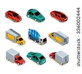 transport icon set. flat 3d...   Shutterstock .eps vector #336002444