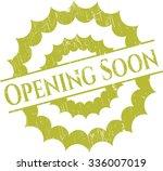opening soon rubber stamp   Shutterstock .eps vector #336007019