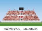 sport soccer fans of red team... | Shutterstock .eps vector #336008231