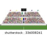 sport soccer fans cheering in... | Shutterstock .eps vector #336008261