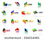 geometric shapes company logo... | Shutterstock .eps vector #336016481
