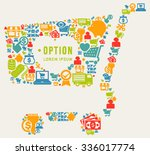 shopping cart and space for... | Shutterstock .eps vector #336017774