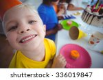 excited kid enjoying a birthday ... | Shutterstock . vector #336019847