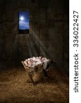 Baby Jesus Resting On A Manger...