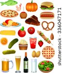 food items | Shutterstock .eps vector #336047171