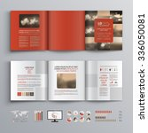 red brochure template design... | Shutterstock .eps vector #336050081