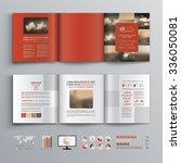 red brochure template design... | Shutterstock .eps vector #336050081