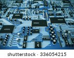 shot of integrated circuit... | Shutterstock . vector #336054215