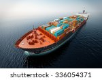 cg aerial shot of container... | Shutterstock . vector #336054371