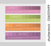 web site panels with colored... | Shutterstock .eps vector #336055499