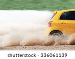 Small photo of Rally car in dirt track