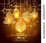 new year's greeting card merry... | Shutterstock .eps vector #336062495