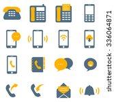 telephone icons | Shutterstock .eps vector #336064871