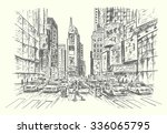 new york city sketch style... | Shutterstock .eps vector #336065795