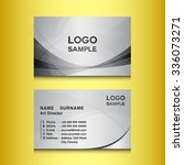 silver business card design... | Shutterstock .eps vector #336073271