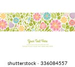 spring floral design horizontal | Shutterstock .eps vector #336084557