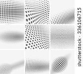 set of dotted abstract forms | Shutterstock .eps vector #336106715