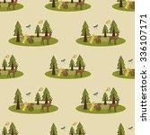 forest pattern | Shutterstock . vector #336107171