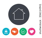 home sign icon. main page...