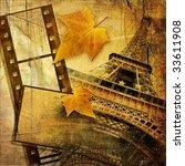 autumn in Paris - stock photo