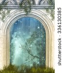 Magic Door In The Forest With...