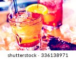 bartender making new old... | Shutterstock . vector #336138971