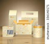 vintage promotional package...   Shutterstock .eps vector #336140171