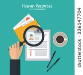 human resources concept with... | Shutterstock .eps vector #336147704