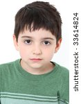 adorable six year old boy with... | Shutterstock . vector #33614824