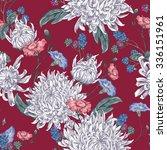 vintage floral seamless... | Shutterstock .eps vector #336151961