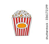 doodle icon. popcorn. vector... | Shutterstock .eps vector #336172199