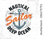 nautical sailor graphic for t... | Shutterstock .eps vector #336175751